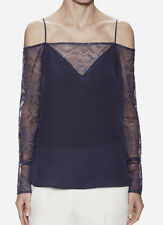 NEW Bailey 44 Perfect World AMETHYST Cold Shoulder Lace Top $188 NWT