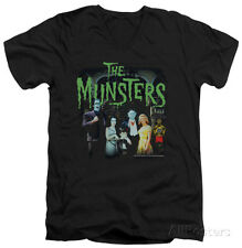 The Munsters - 1313 50 Years V-Neck Apparel T-Shirt - Black