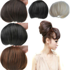 NEW Beautiful Woman Big Hair Bun For Bride Clip in Hair Extensions blonde