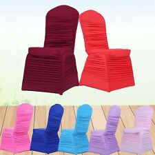 7 Colors Lycra Ruffled Chair Cover Spandex Stretch Wedding Party Banquet Decor