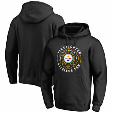 Pittsburgh Steelers NFL Pro Line Firefighter Pullover Hoodie - Black - NFL