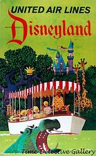 Vintage United Airlines Disneyland Travel Poster - Available in 3 Sizes