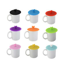 Silicone Cute Anti-dust Glass Cup Cover Coffee Mug Suction Seal Lid Cap Safe New