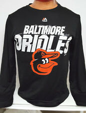BALTIMORE ORIOLES MAJESTIC DRI FIT LONG SLEEVE WORKOUT SHIRT JERSEY NEW W TAGS