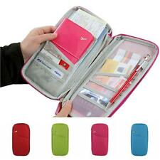 Travel Passport Credit Card Document Storage Organizer Holder Bag Long Wallet
