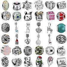 Fashion 925 Silver Charms Bead Pendant Fine Jewelry Fit Sterling Bracelets Chain