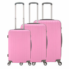 """20"""" 24"""" 28"""" Hard Shell Pink Travel Luggage ,4 Wheel Cabin Trolley Suitcase"""