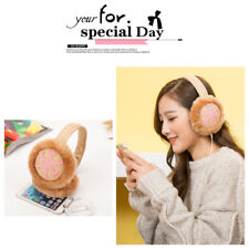 Plush Winter Earmuffs Thermal Headphone Ear Muffs Music Ear Warmer Ear Protector