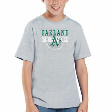 Oakland Athletics Youth Established Banner T-Shirt - Gray - MLB