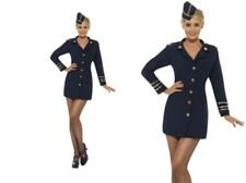 Flight Attendant Ladies Costume Air Hostess Fancy Dress Outfit S-L