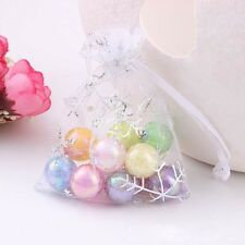 Snowflake White Jewelry Candy Organza Pouch Wedding Favor Gift Bag Box 50/100pcs