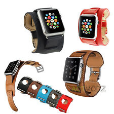 Faux Leather Buckle Wrist Watch Band Strap Belt for iWatch Apple Watch 38mm/42mm
