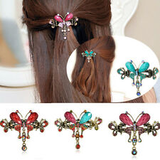 Women Turquoise Butterfly Crystal rhinestone Flower Hairpins Hair Barrettes Clip