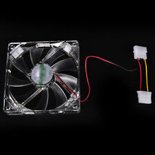 Quad 4-LED Light Neon Clear 120mm PC Computer Case Cooling Fan Popular for DIY r