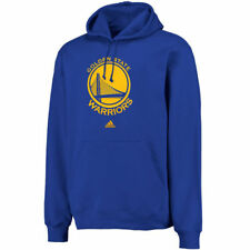 adidas Golden State Warriors Logo Pullover Hoodie Sweatshirt - Royal - NBA