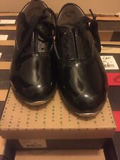 LEO'S 1006T Black Patent Oxford Lace Up Tap Dance Shoes Sz 9.5M-4M Unisex Retro