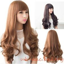 Fashion Women's Girls Long Wavy Curly Hair Full Wig Wigs Anime Cosplay Costume