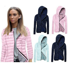 Women Hooded Coat Jacket Trench Windbreaker Parka Outwear Hoodie Overcoat Tops
