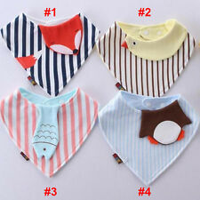 Baby Comfy Cotton Boy Girl Bandana Bibs Saliva Towel Dribble Triangle Head Scarf
