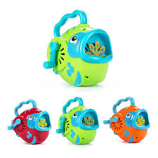 Bubble Hurricane Machine Fish Shape for Kids Hand-Operated Toy Bubble Maker