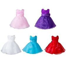 Baby Toddler Girl Dress Flower Wedding Party Pageant Fancy Tutu Dress 0-24M