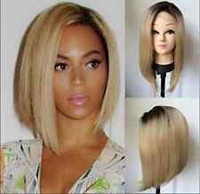 Woman Frontal Lace wigs Lady Long blond black straight Front lace Synthetic hair
