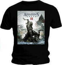 Official T Shirt ASSASSINS CREED III 3 Black GAME COVER All Sizes