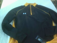 NWT Under Armour loose fit Cold Gear pullover mens L, long, black & yellow