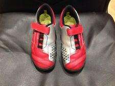 CLARKS Size uk 12 G red silver trainers (S)