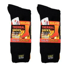 Polar Extreme Insulated Thermal Socks Mens Solid Black Warm Soft Sock Size 10-13