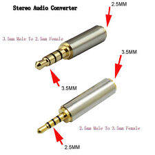 3.5/2.5mm Male To 2.5/3.5mm Female Jack Stereo Audio Headphone Adapter Converter