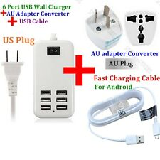 6- Port USB Desktop Multi function Fast Wall Charger Power Adapter For Android