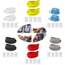 1 Pair Elastic No Tie Shoelaces Sport Trainer Running Athletic Sneaks Shoe laces