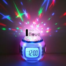 New Music Alarm Clock With Calendar Thermometer Star Sky Projection ILOE