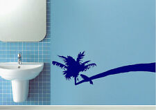 Seascape Wall Stickers Paradise Island Boats Vinyl Decal 15 Colours 01261