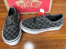 NEW VANS AUTHENTIC SKATE SHOES Kids Boys Girls Size 10.5 Checkerboard SUEDE
