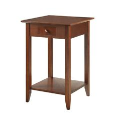 American Heritage End Table with Shelf and Drawer in Espresso - 7104077-ES