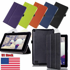 Slim Folding Leather Stand Case Cover for New Amazon Kindle Fire HD 7 6th Gen US