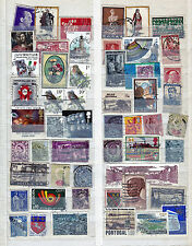 West European countries collection...album page with used stamps