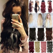 Real Natural Full Head Clip In Hair Extensions Long CURLY WAVY STRAIGHT Hiar Tc6