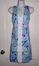 NWT LILLY PULITZER LILLYS LILAC NICE INK RYDER SHIFT DRESS 14 16