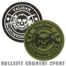 Kombat Round PVC Airsoft Morale Patch Taliban Hunting Club