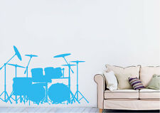Dance Wall Stickers Drums Vinyl Decal 15 Colours 01915
