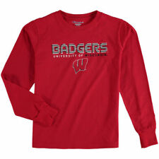 Wisconsin Badgers Champion Youth Jersey Long Sleeve T-Shirt - Red - NCAA