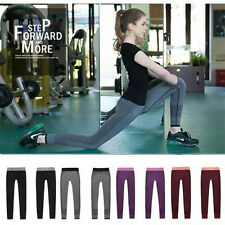 Womens Yoga Fitness Yoga Running Leg Gym Outfit Sports Pants Trousers Hot S359