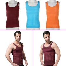 Men Slimming Vest Top Slim Shirt Chest Belly Control Body Shapers S-XXL GNH