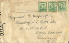1944 New Zealand insure slogan cancel uncensored cover to camp Endicott US