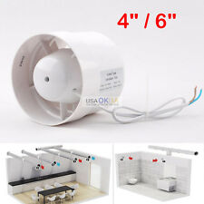 """4"""" 6'' Inline Duct Booster Cooling Fan Blower Exhaust Air Ducting Cooling Vent"""