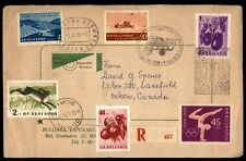 Bulgaria 1959 Esperanto Cachet on Civer With Pictorial Cancels