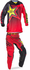NEW FLY RACING ADULT MENS KINETIC RED ROCKSTAR ENERGY MX JERSEY + PANTS COMBO